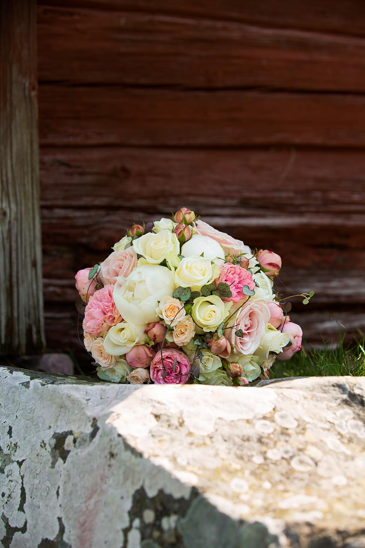 Brudbukett - bröllopsfotograf Phia Bergdahl, Västervik