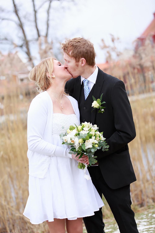 Bröllopsfotografering i Stadsparken Västervik - fotograf Phia Bergdahl Västervik