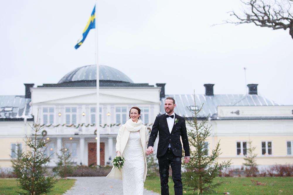 Bröllopsfotografering på Gränsö slott - fotograf Phia Bergdahl, Västervik