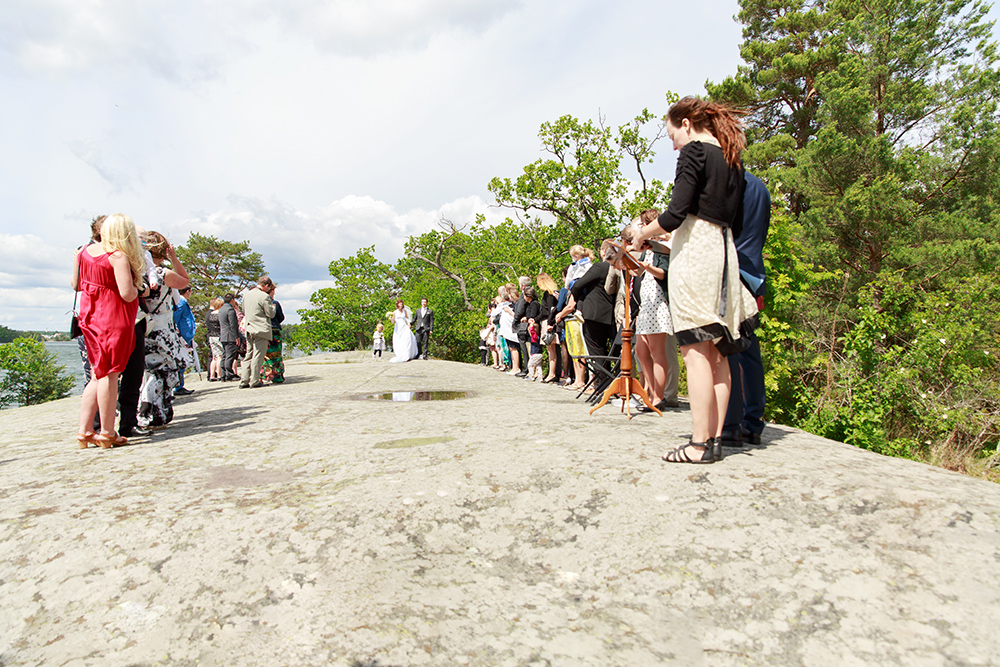 Vigselceremoni på Ekholmen, Gränsö fotograferad av bröllopsfotograf Phia Bergdahl Västervik