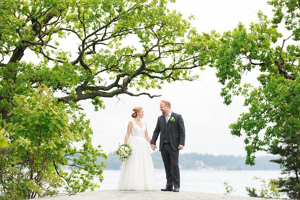 Brudpar på Ekholmen, Gränsö slott