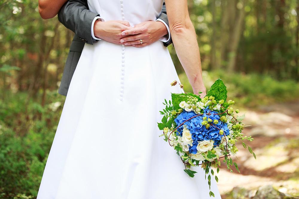 Brudens bukett, bröllop på Gränsö