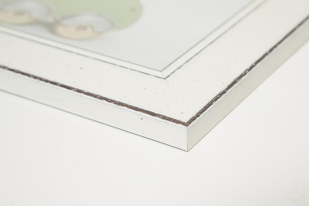 Detalj av tavla med strukturrand