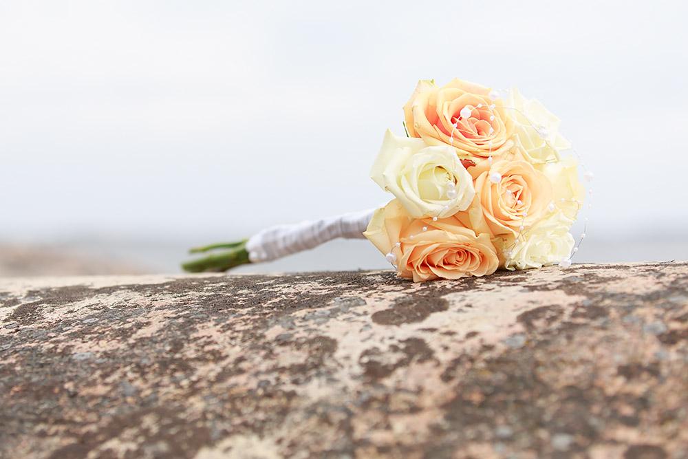 Brudbukett på Skanvik, Gränsö fotograf Phia Bergdahl Västervik