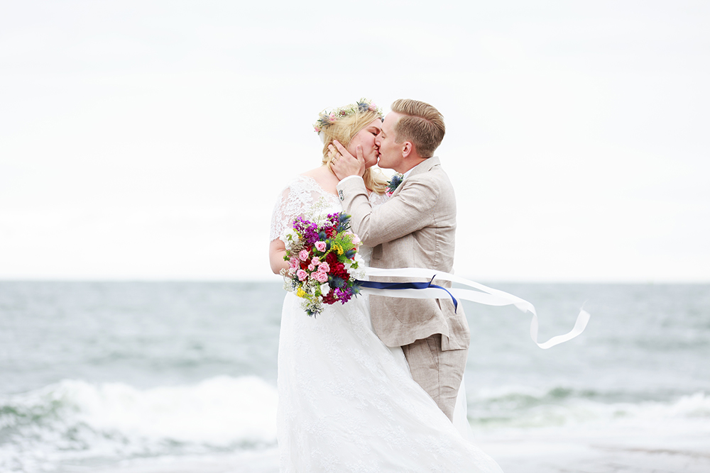 Brudpar på Skanvik Gränsö, bröllopsfotograf Phia Bergdahl Västervik